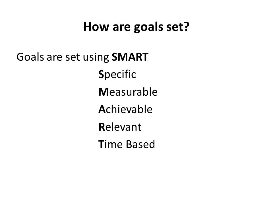 How do I create SMART goals.Specific: Goal objectives should address the five Ws...