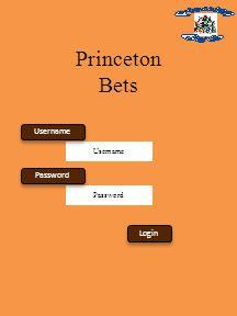Username Password Princeton Bets Login Username Password
