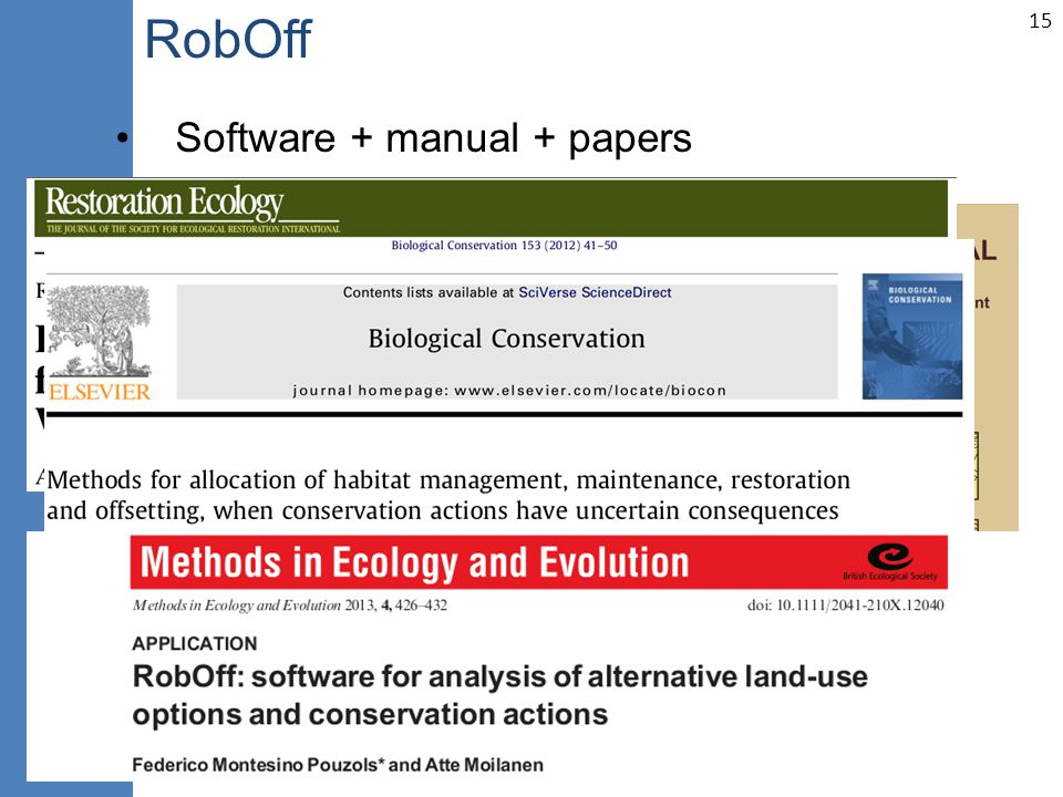 15 RobOff Software + manual + papers