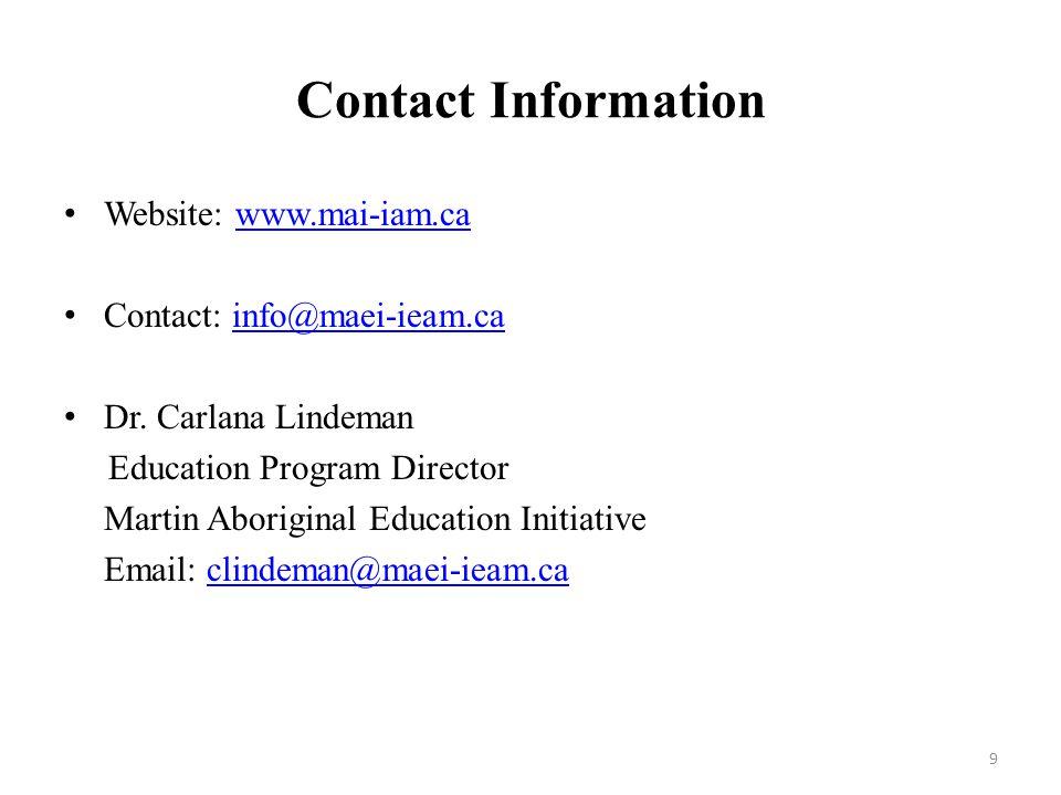 Contact Information Website: www.mai-iam.cawww.mai-iam.ca Contact: info@maei-ieam.cainfo@maei-ieam.ca Dr.