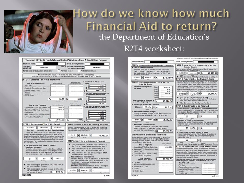 the Department of Education's R2T4 worksheet: