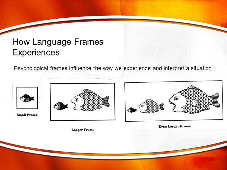 Psychological frames influence the way we experience and interpret a situation. How Language Frames Experiences