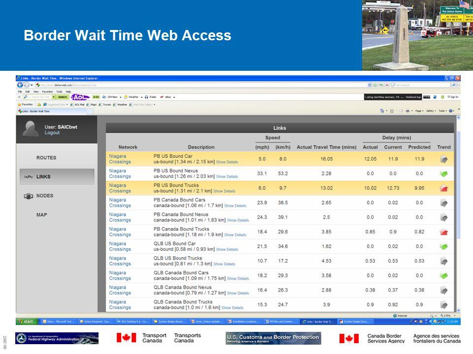 09-2857 Border Wait Time Web Access 7