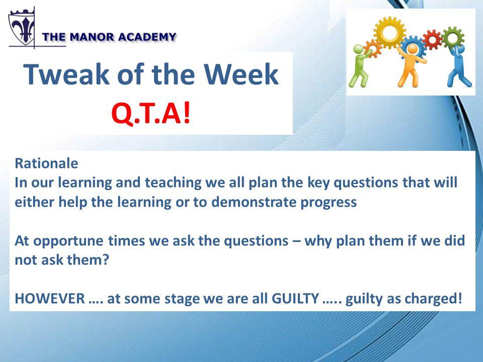 Tweak of the Week Q.T.A.