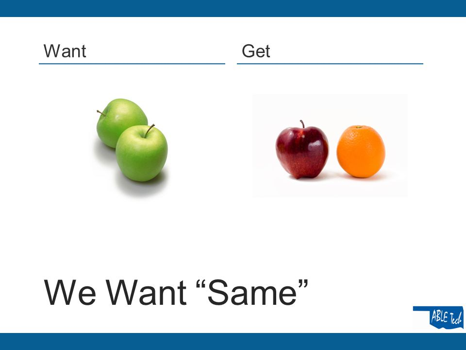 """We Want """"Same"""" WantGet"""