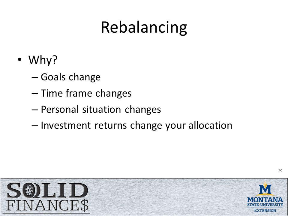 Rebalancing Why.