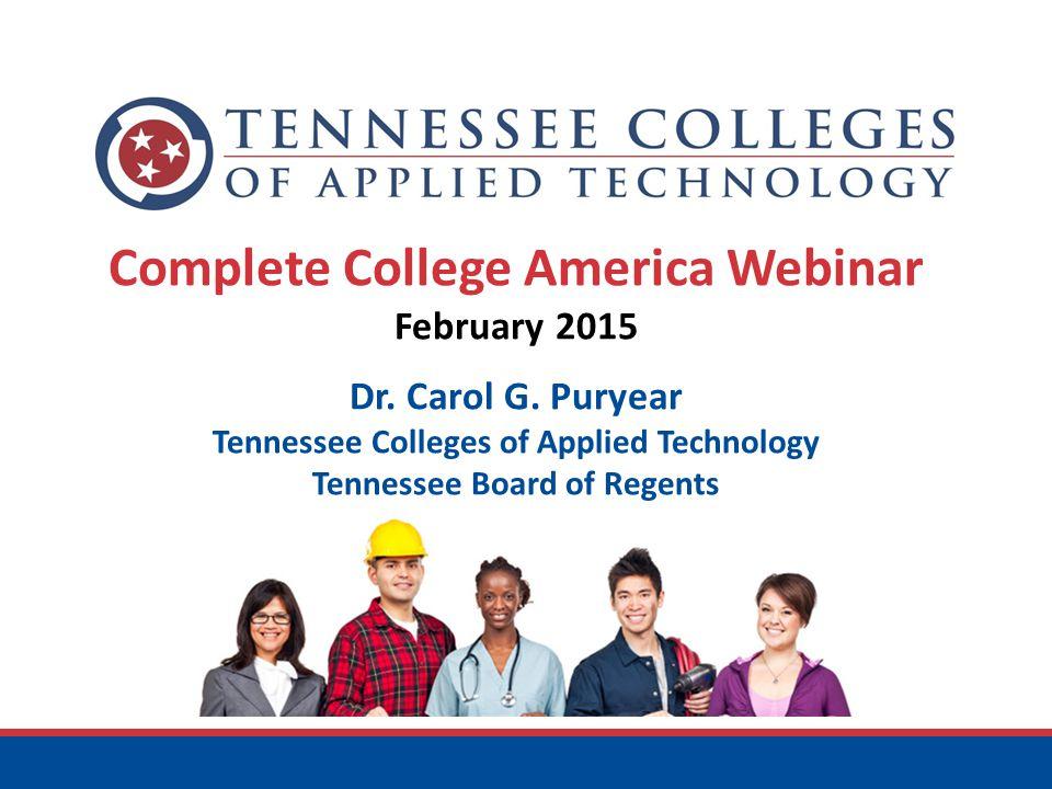 Complete College America Webinar February 2015 Dr.