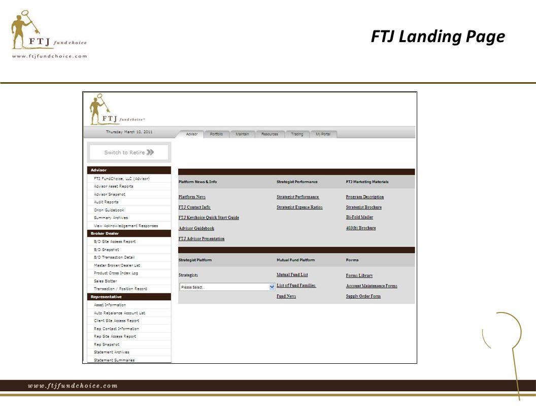 FTJ Landing Page