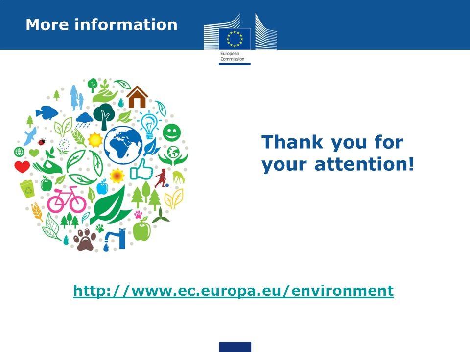 More information http://www.ec.europa.eu/environment Thank you for your attention!