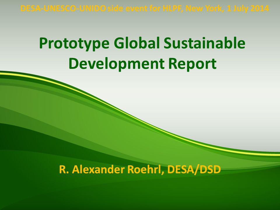 Prototype Global Sustainable Development Report Contributors