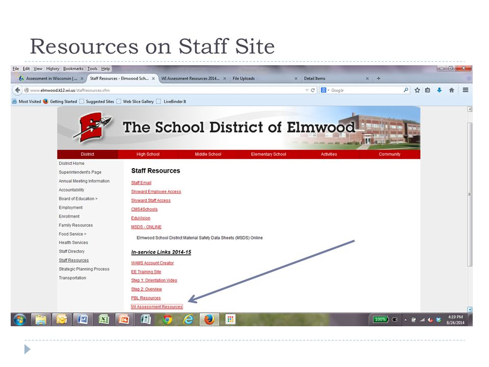 Resources on Staff Site