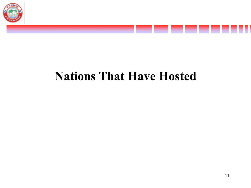 Nations That Have Hosted 11