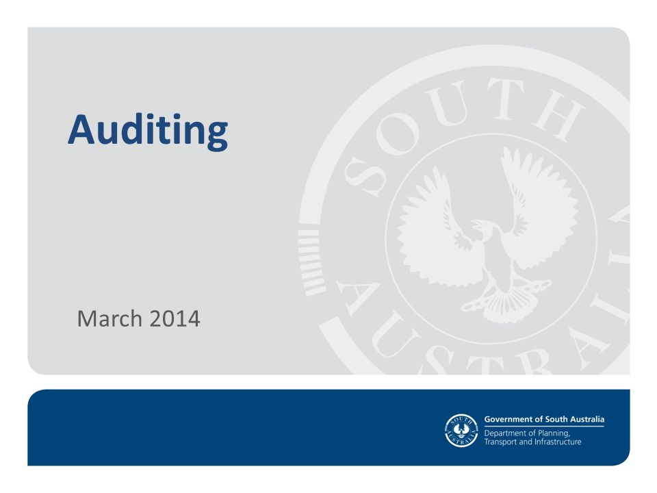 Auditing March 2014