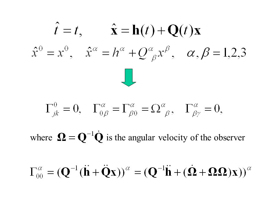 where is the angular velocity of the observer