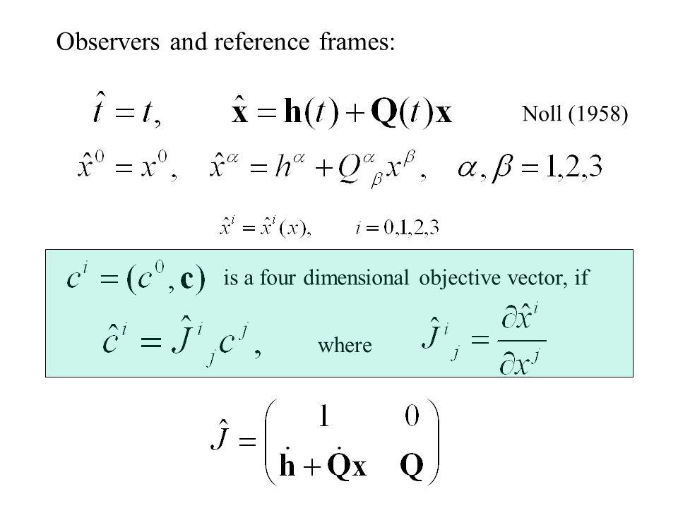 Traditional objectivity: Vectors: Tensors: