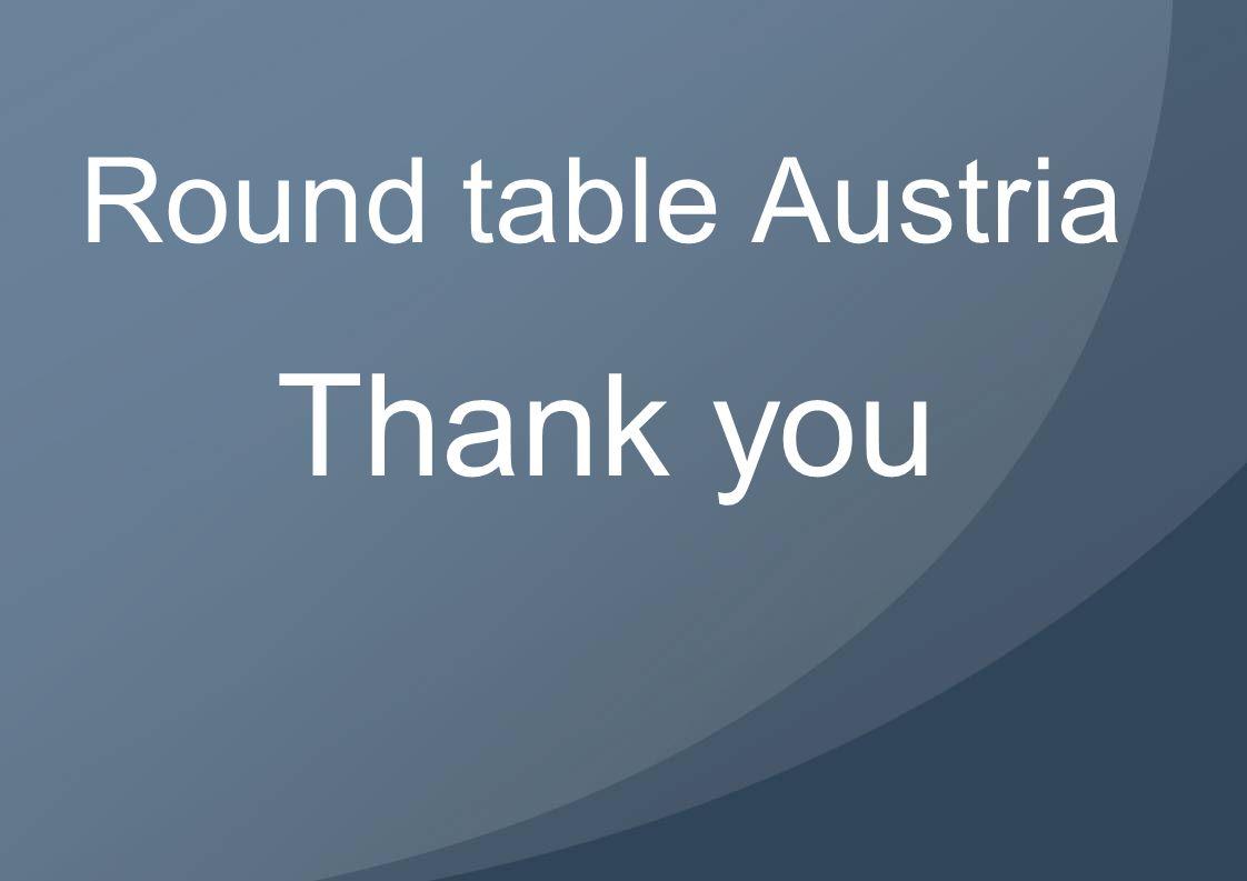 Round table Austria Thank you