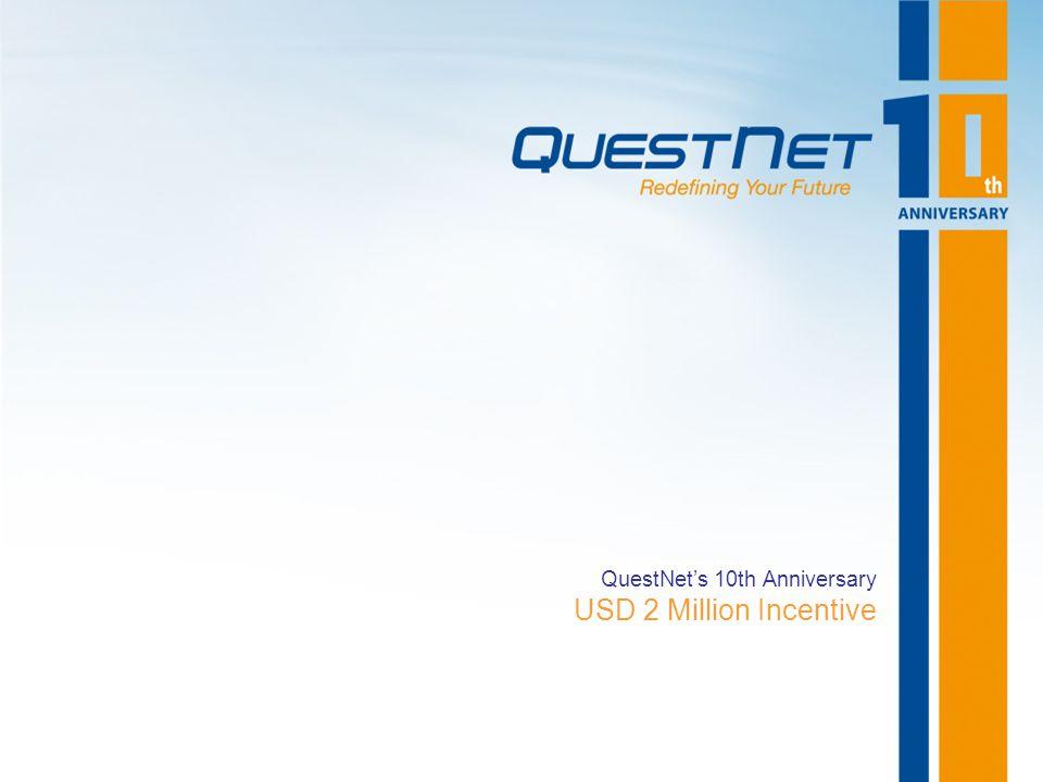 QuestNet's 10th Anniversary USD 2 Million Incentive