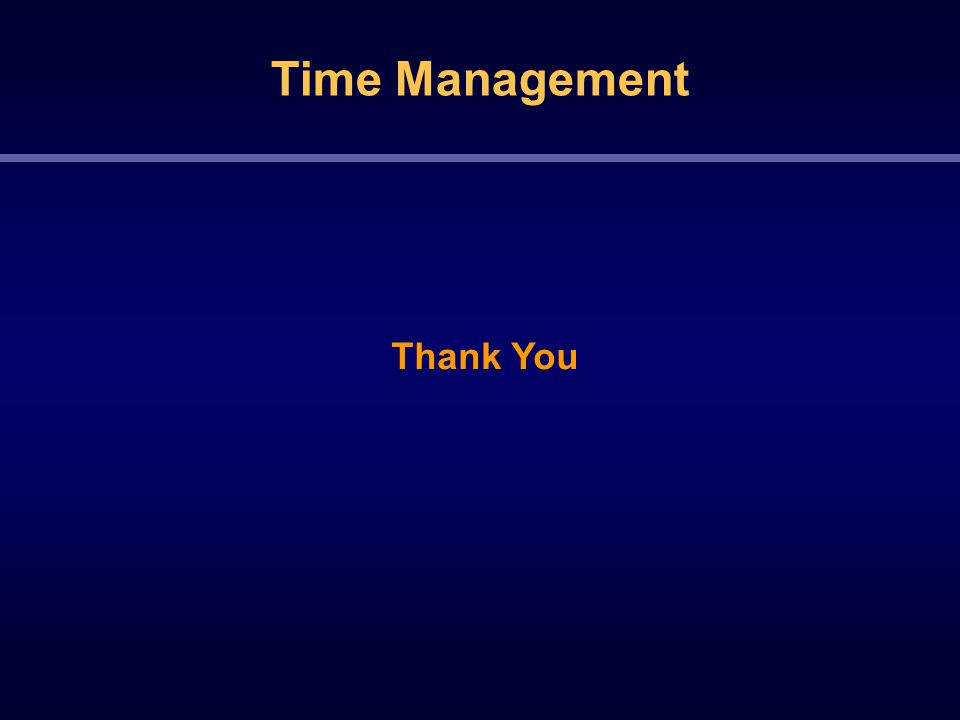 Time Management Thank You