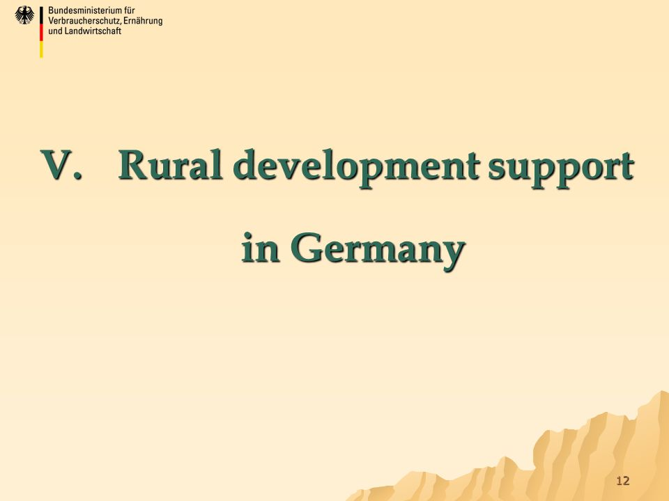 12 V. Rural development support in Germany