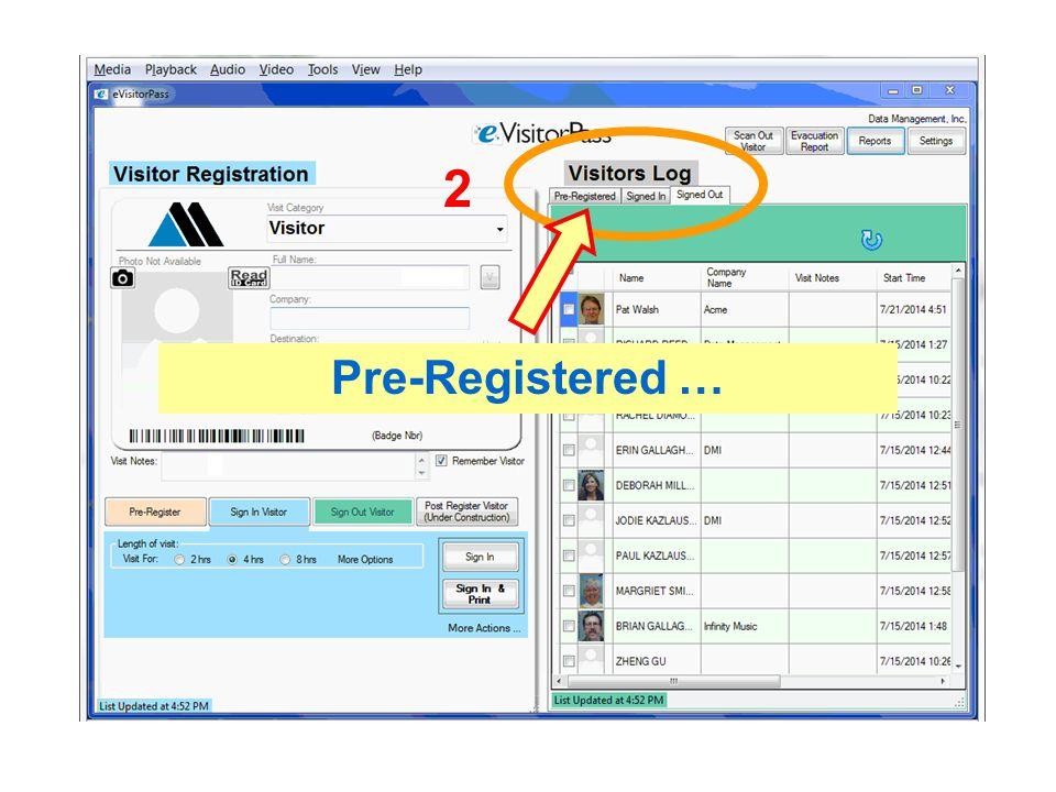 Pre-Registered … 2