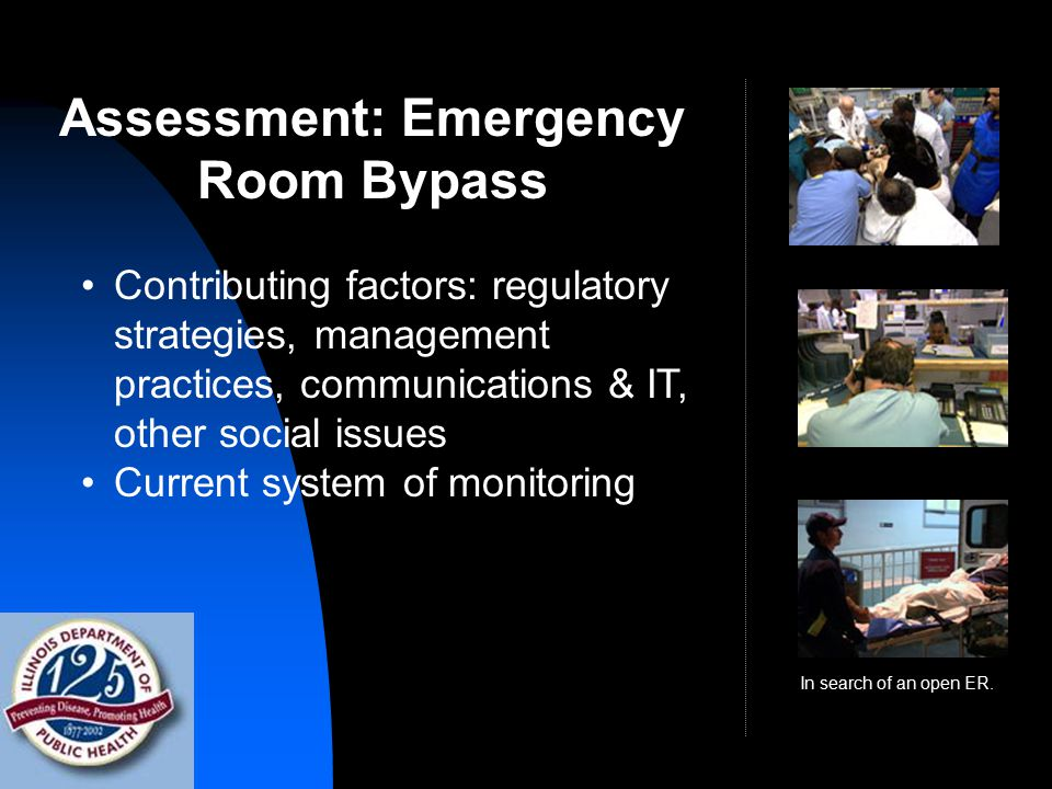 Assessment: Emergency Room Bypass In search of an open ER.