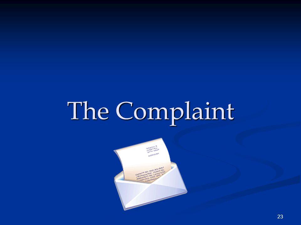 23 The Complaint