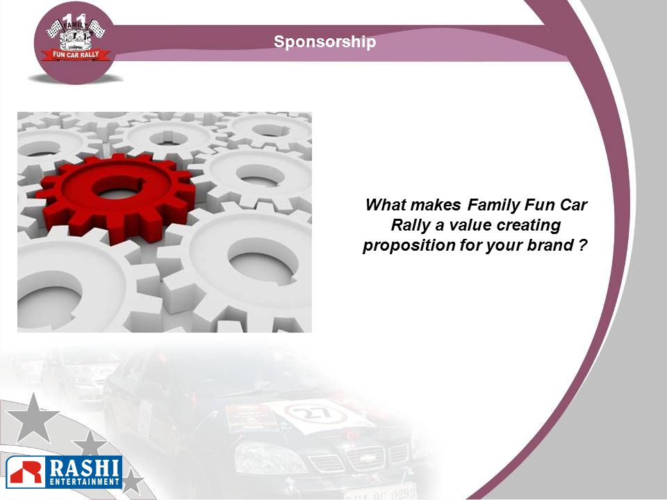 Sponsorship What makes Family Fun Car Rally a value creating proposition for your brand ?