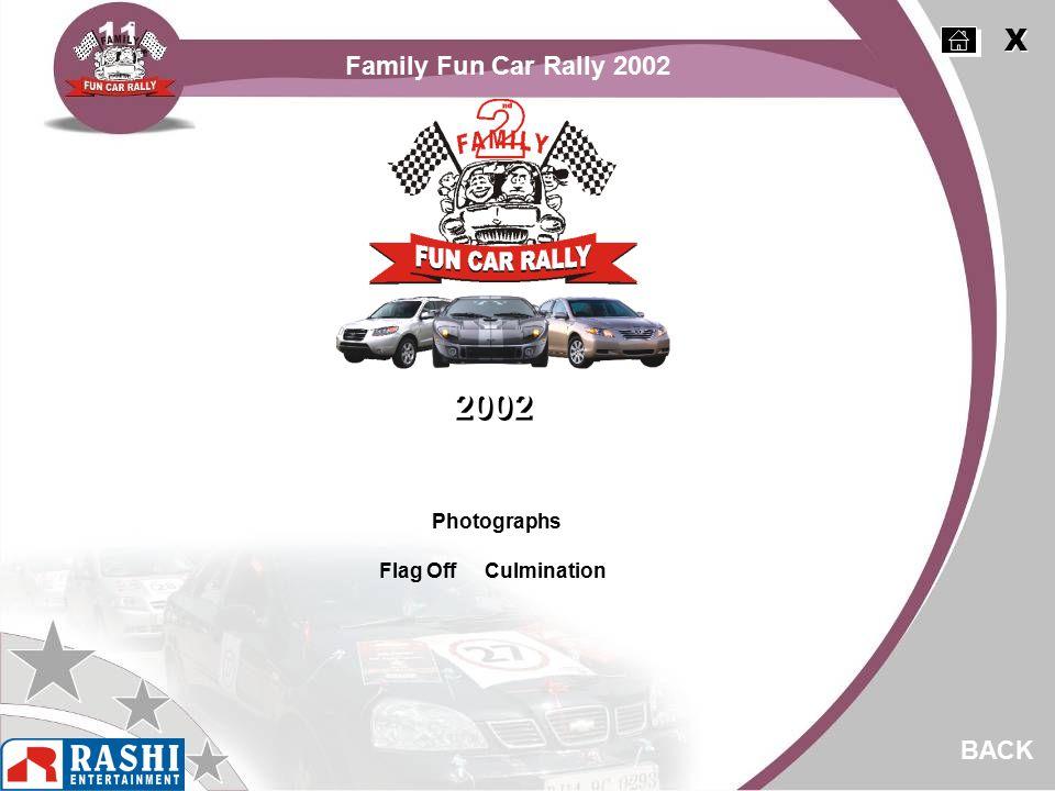 Photographs Flag Off Culmination BACK 2002 X X Family Fun Car Rally 2002