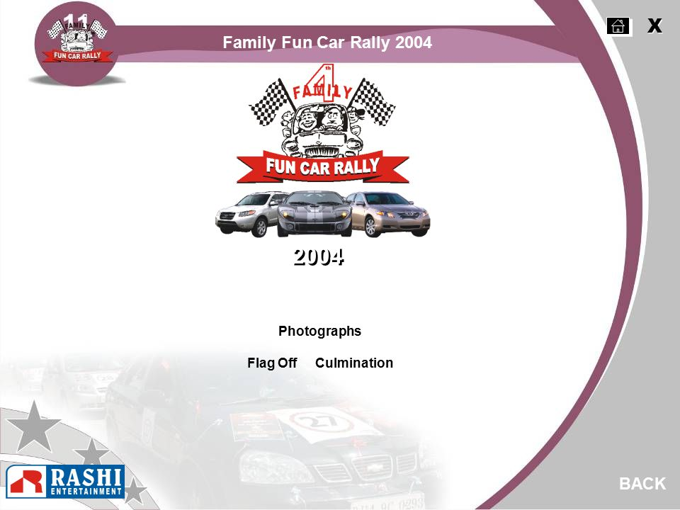 Photographs Flag Off Culmination BACK 2004 X X Family Fun Car Rally 2004