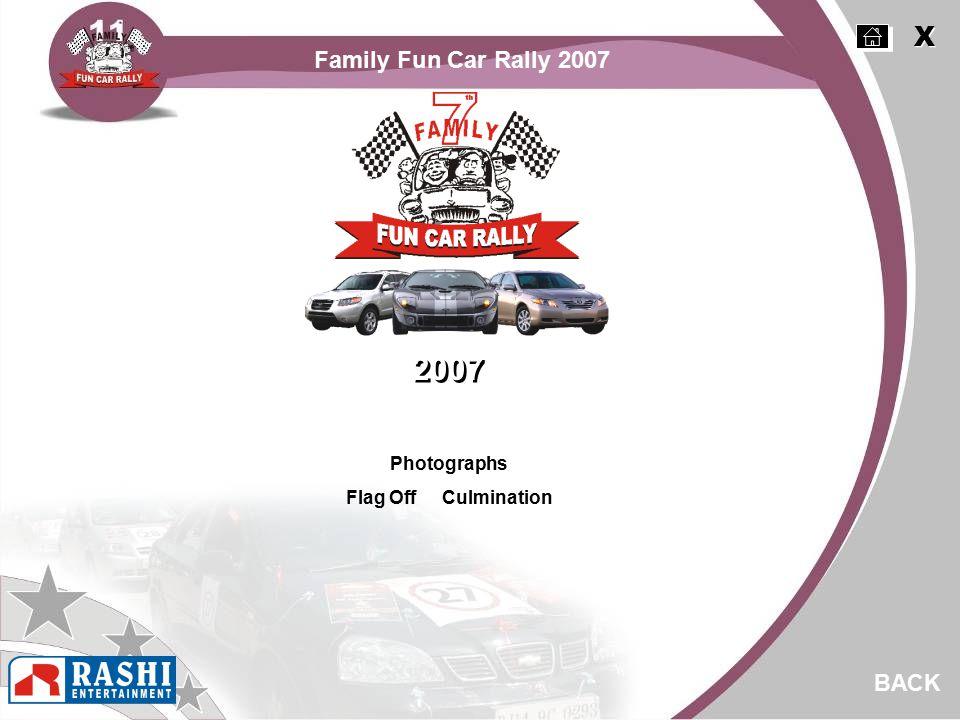 Photographs Flag Off Culmination BACK 2007 X X Family Fun Car Rally 2007