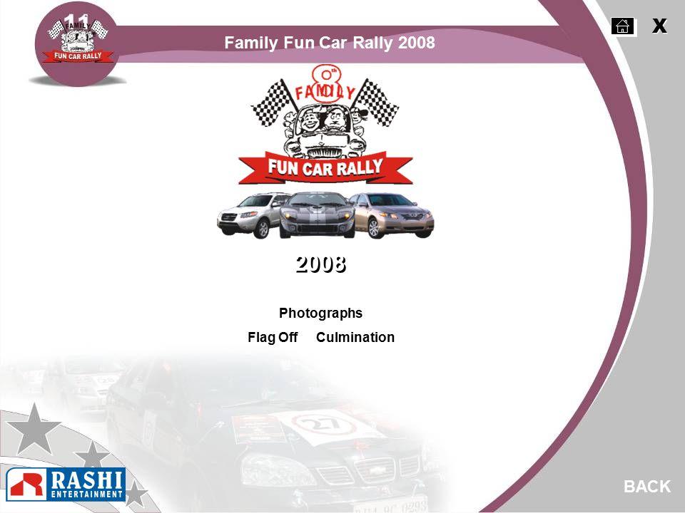Photographs Flag Off Culmination BACK 2008 X X Family Fun Car Rally 2008