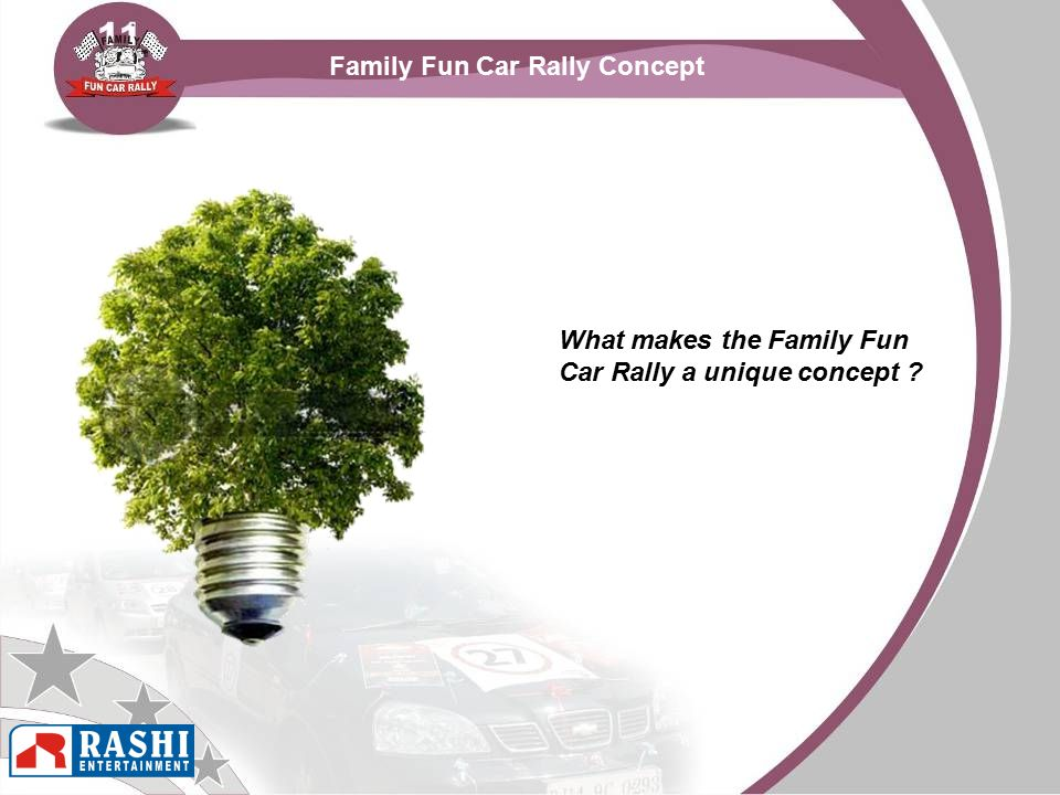 Family Fun Car Rally Concept What makes the Family Fun Car Rally a unique concept ?