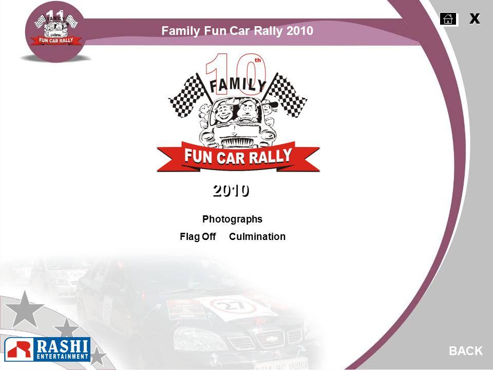 Family Fun Car Rally 2010 Photographs Flag Off Culmination BACK 2010 X X