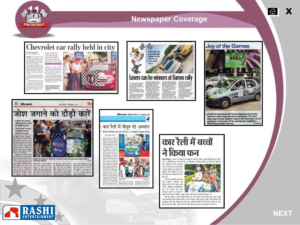 X X NEXT Newspaper Coverage