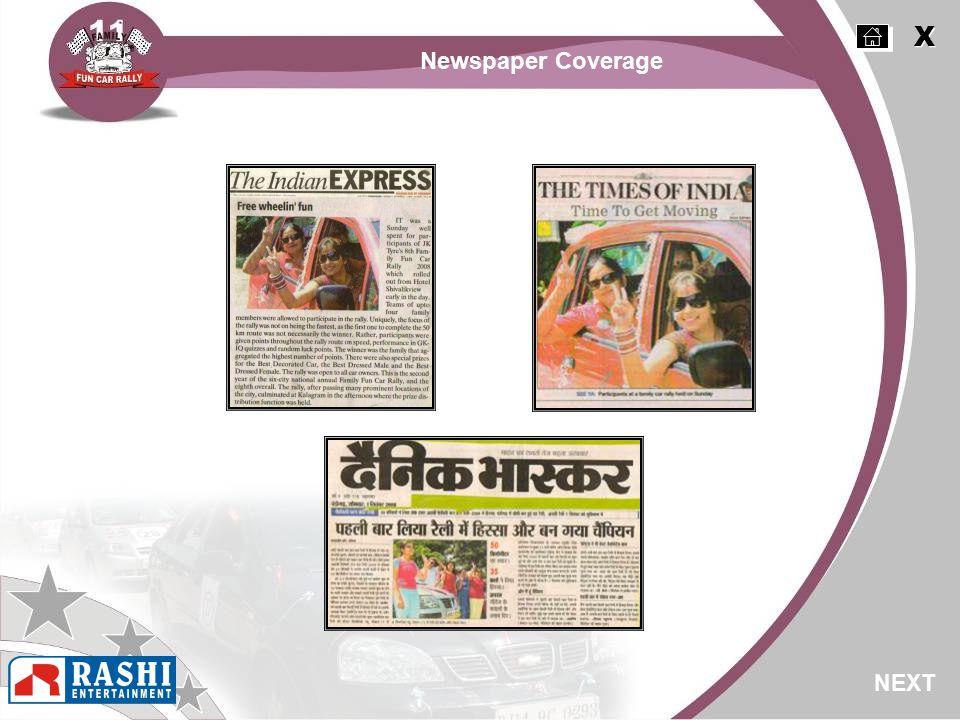 NEXT X X Newspaper Coverage