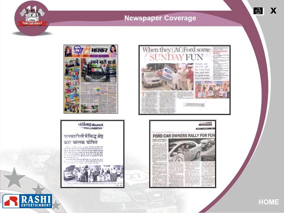 X X HOME Newspaper Coverage