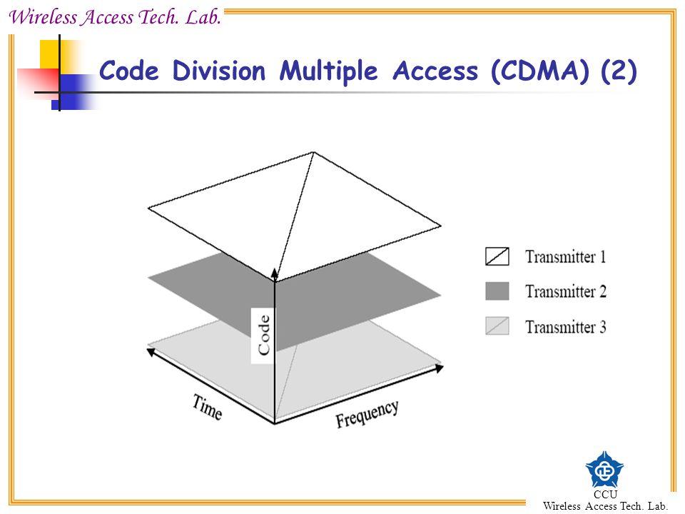 Wireless Access Tech. Lab. CCU Wireless Access Tech. Lab. Code Division Multiple Access (CDMA) (2)