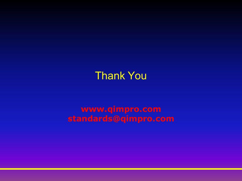 Thank You www.qimpro.com standards@qimpro.com