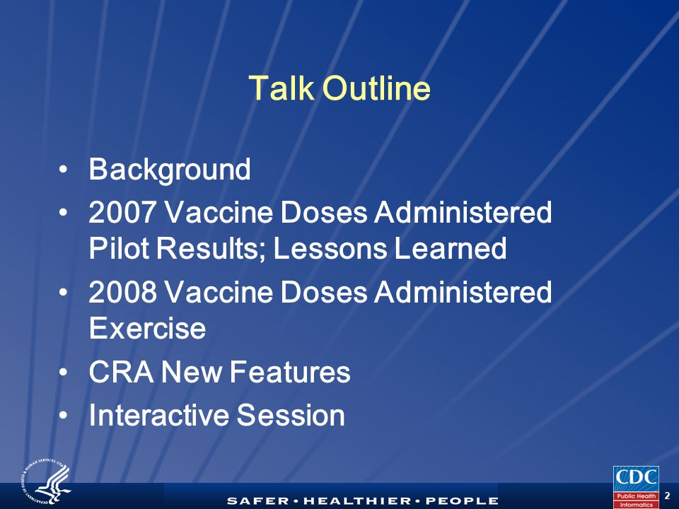 TM 13 Phase I: Pre-Pilot Planning Apr-Oct 2007 CDCTasksCDCTasks 2007 Pilot Activities Phase II: Pilot Test Nov-Dec 2007 Phase III: Post-Pilot Jan-Mar 2008  Webinars - Orientation & introduction  Webinars - Option specific; open Q&A;  Selection of POC  Conference Calls - Individual project areas; follow up for Q&A  PHIN conference presentation  Identify & submit option choices  CRA Development - Version 1.6 release  Pilot Test - Receive & process clinical data from 62 project areas  Finalize & submit clinic dates  Review option-specific checklist  Develop/administer feedback questionnaire  Respond to feedback questionnaire  Develop After Action Report  Conference Call - After Action Review feedback of pilot  Obtain digital certificates  Conduct results briefings  Participate in After Action Review conference call  Submit influenza vaccine doses administered data to CDC  Pilot Test – Project Area support & trouble shooting PATasksPATasks  Apply lessons learned – CRA development, future pilot