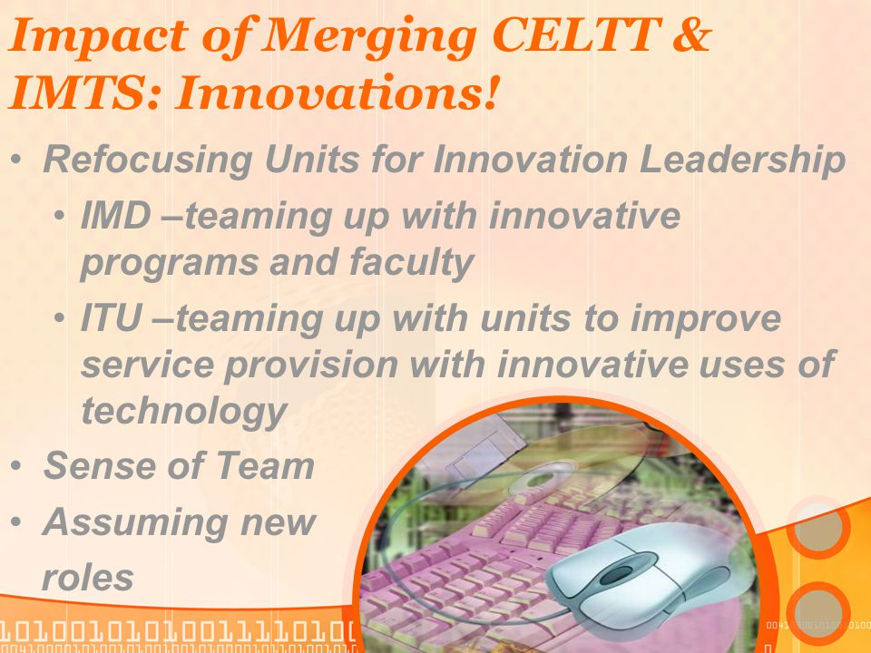 Impact of Merging CELTT & IMTS: Innovations.