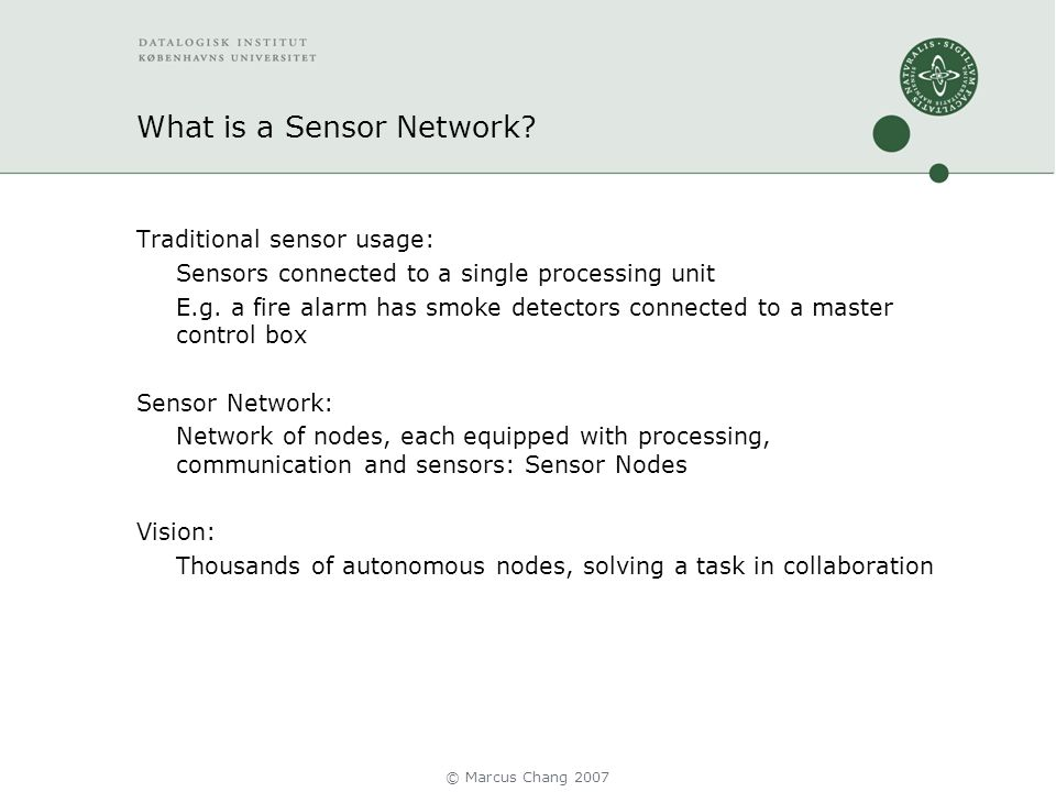 What is a Sensor Network.