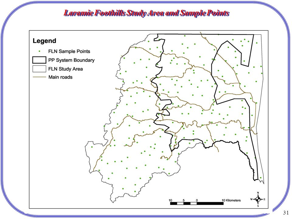 31 Laramie Foothills Study Area and Sample Points