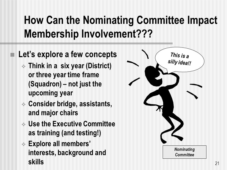 How Can the Nominating Committee Impact Membership Involvement .