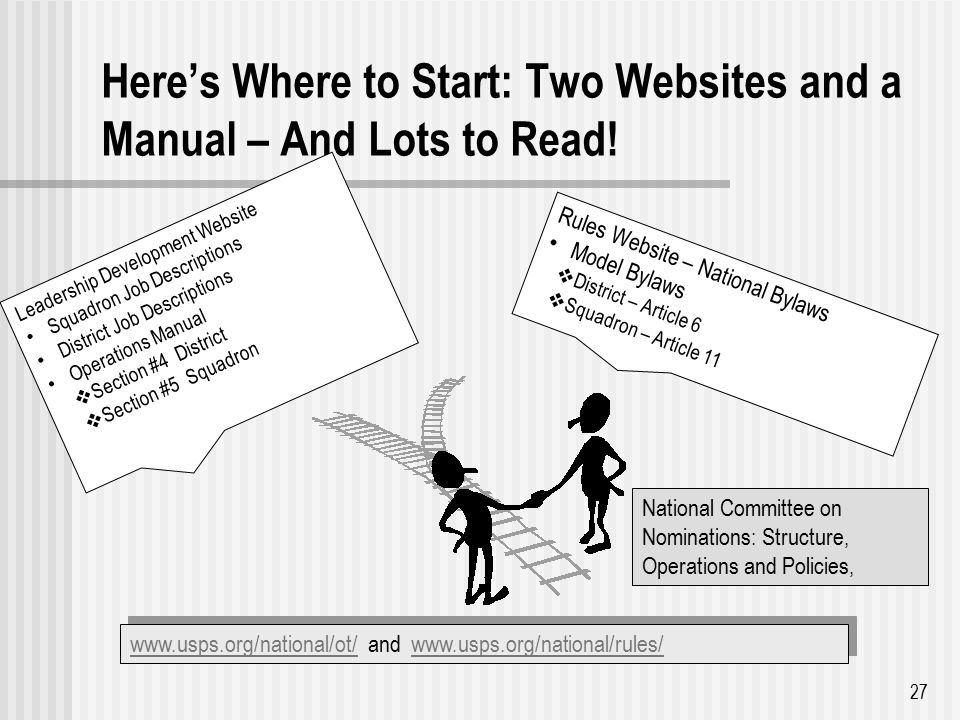 Here's Where to Start: Two Websites and a Manual – And Lots to Read.