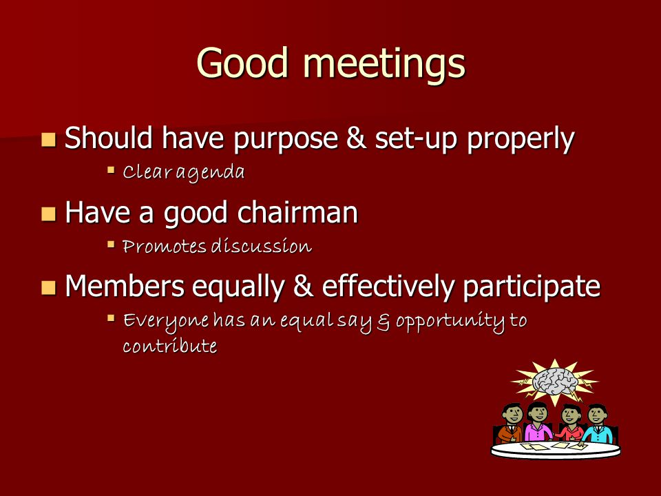 Discussion Points Why should we hold meetings.Why should we hold meetings.