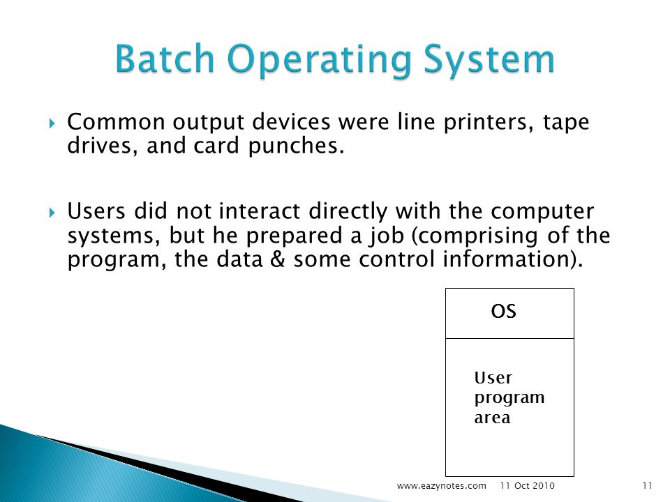  Common output devices were line printers, tape drives, and card punches.