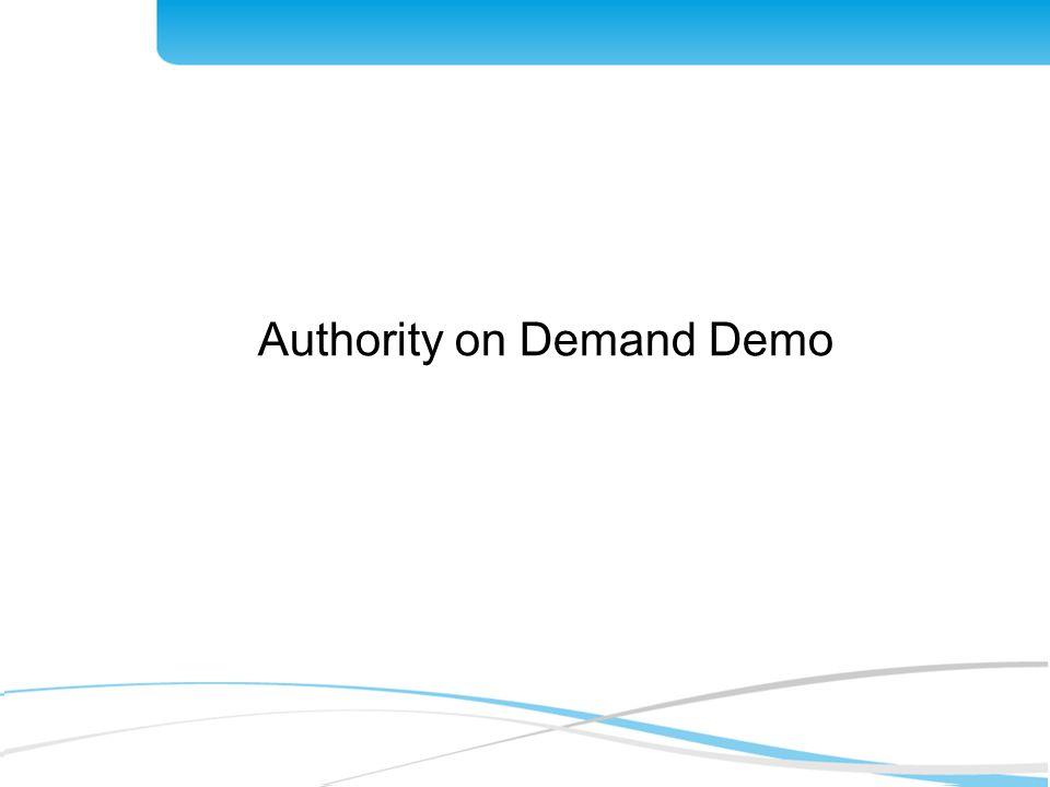 Authority on Demand Demo