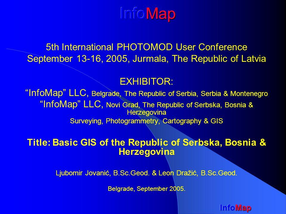 InfoMap Sample: Orthophoto mosaic in urban area, Sc=1:1000, 980ha - Ljubinje city