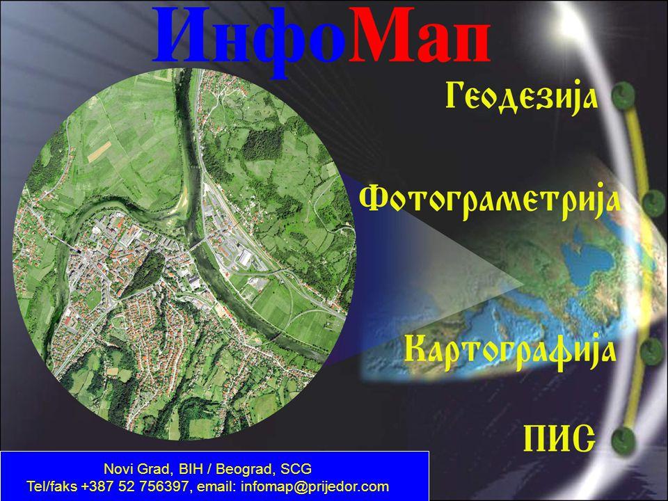 InfoMap Novi Grad, BIH / Beograd, SCG Tel/faks +387 52 756397, email: infomap@prijedor.com