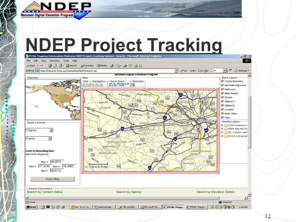 12 NDEP Project Tracking